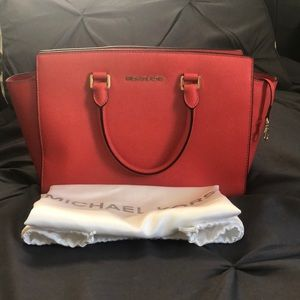 MK Red Tote